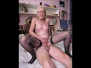 Old lady wants her tits sucked
